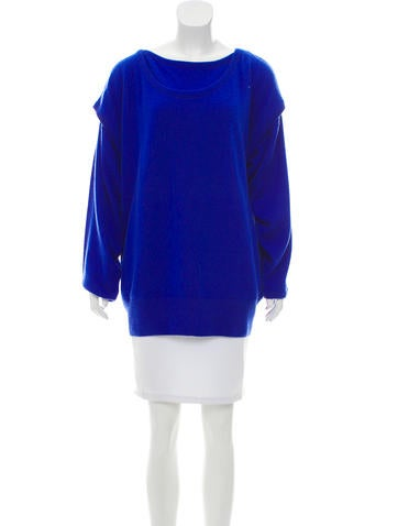 Loewe Layered Cashmere Sweater w/ Tags None