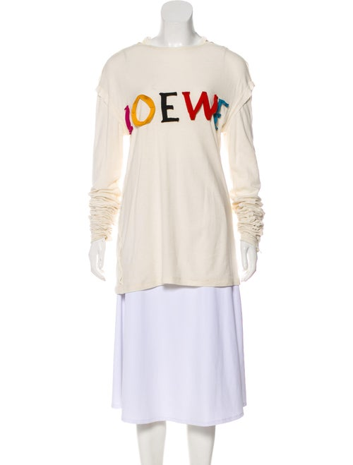 Loewe Silk-Blend Embroidered Sweater