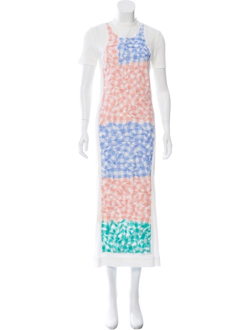 Loewe Maxi Knit Dress White