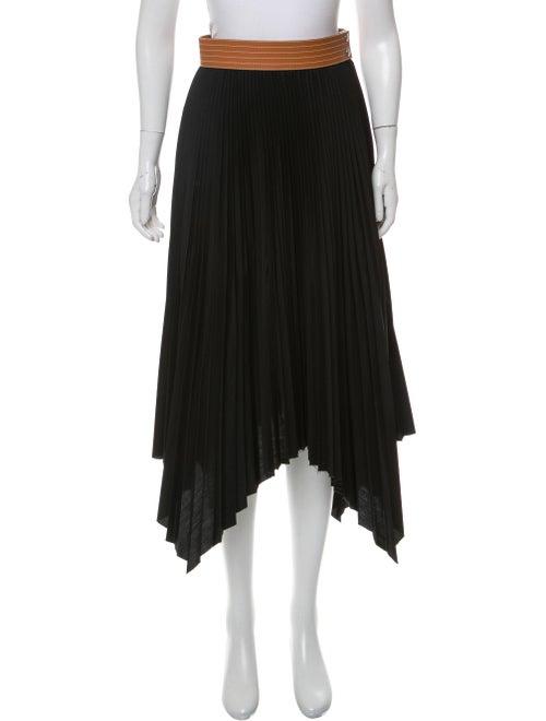 Loewe 2020 Pleated Skirt Black