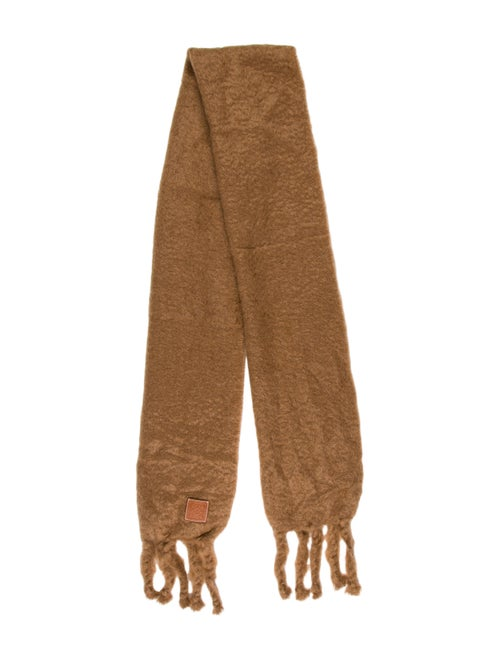 Loewe Oversized Mohair Wool Scarf Tan