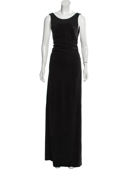 Loewe Scoop Neck Long Dress Black