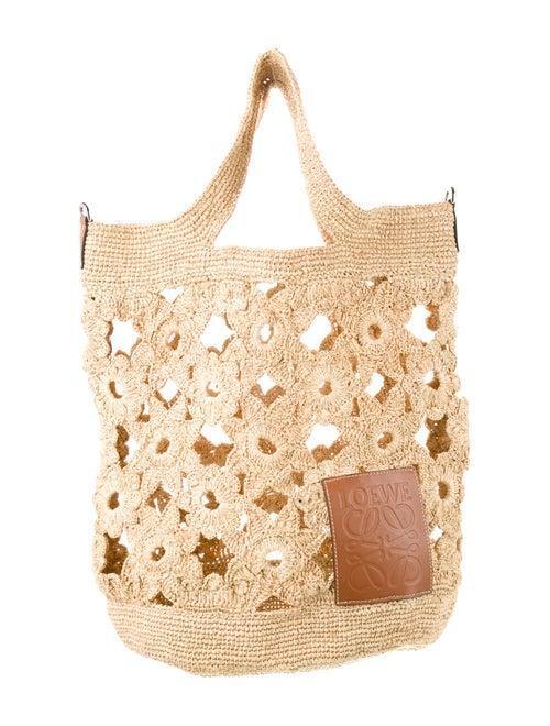 Loewe Slit Crochet Bag Natural