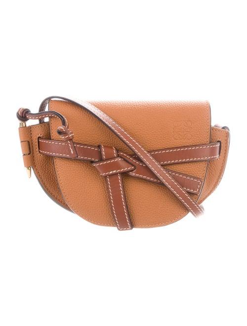 Loewe Mini Gate Crossbody Bag gold