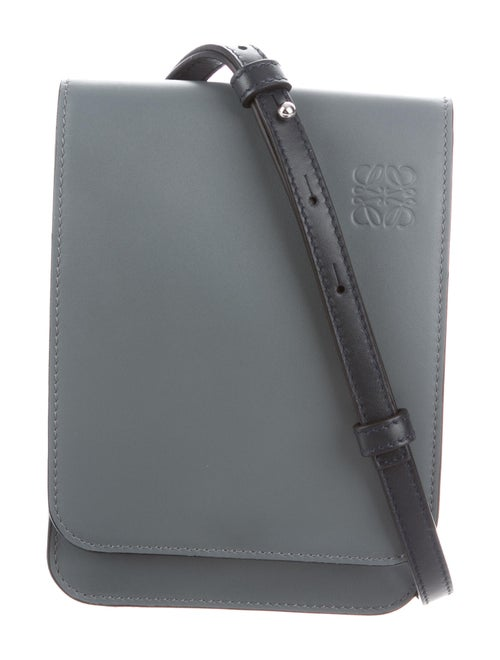 Loewe Gusset Flat Crossbody Bag silver