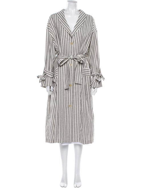 Loewe Striped Trench Coat