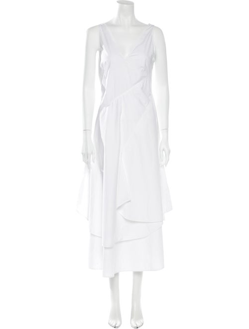 Loewe 2019 Long Dress White