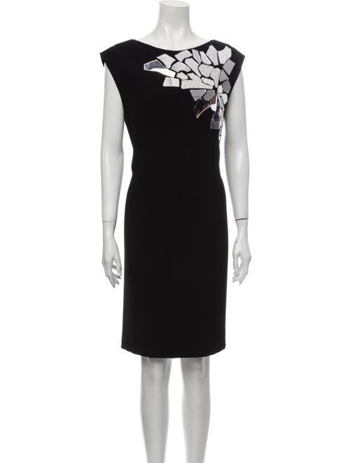 Loewe Bateau Neckline Knee-Length Dress Black