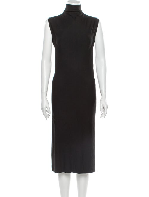 Loewe Turtleneck Midi Length Dress Black