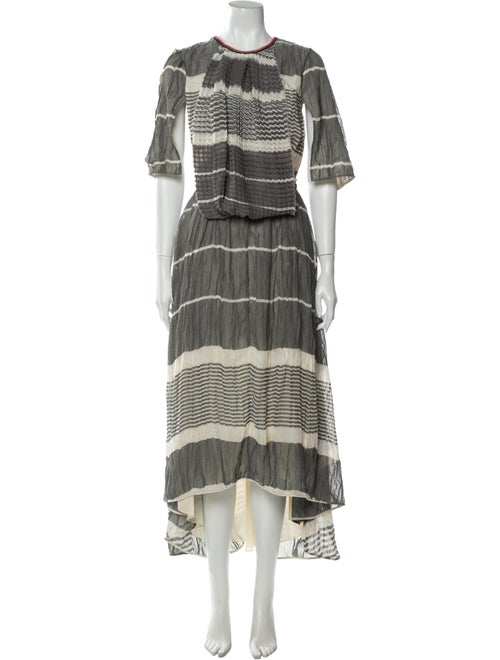 Loewe Striped Long Dress Grey