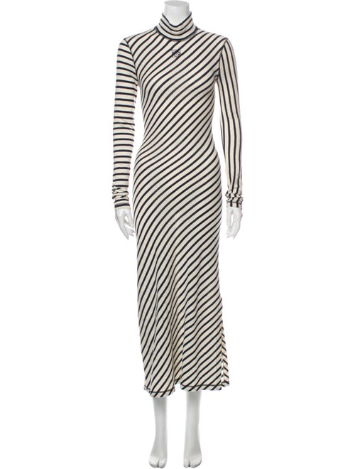 Loewe Striped Long Dress Blue