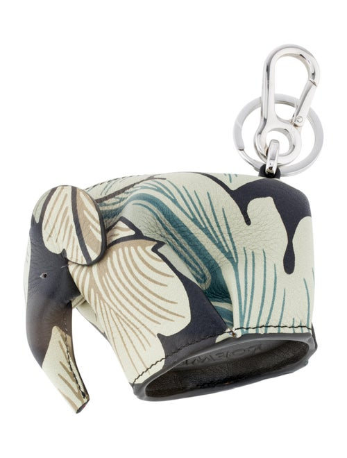 Loewe Elephant Bag Charm Keychain multicolor