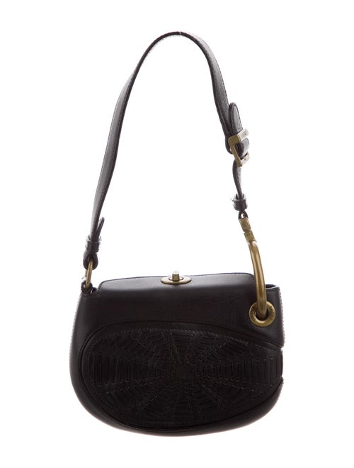 Loewe Leather Shoulder Bag Black