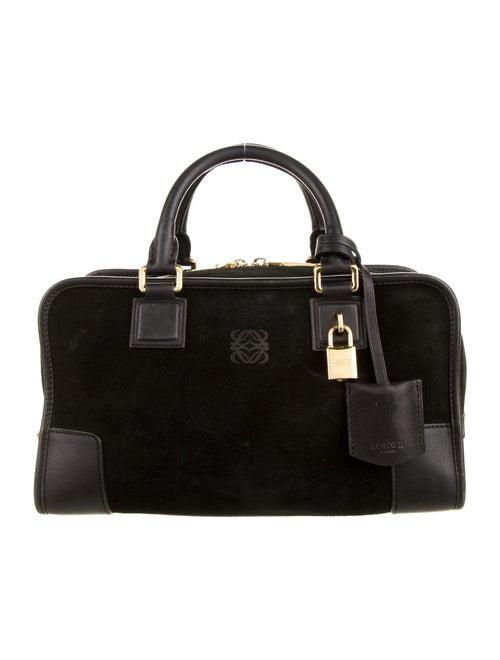 Loewe Amazona Suede 28 Bag Black