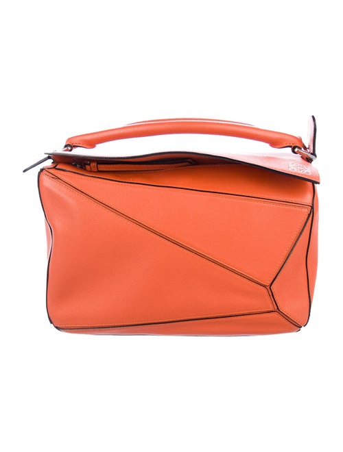 Loewe Colorlock Medium Puzzle Bag Orange