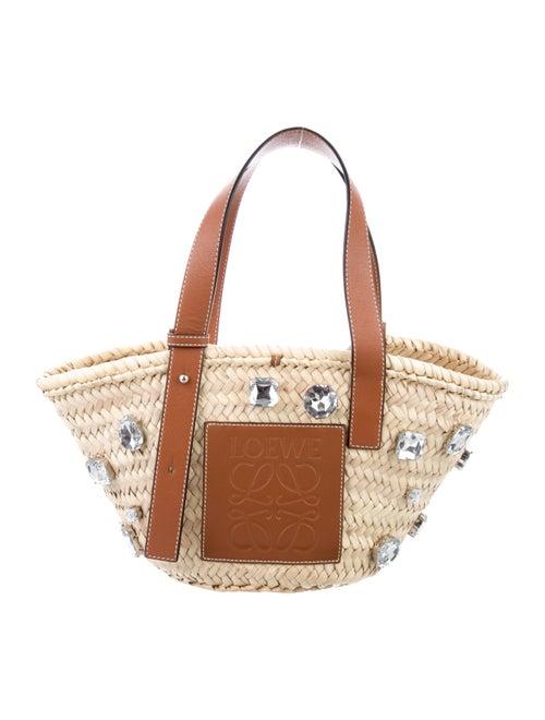 Loewe 2019 Small Basket Stones Bag Silver