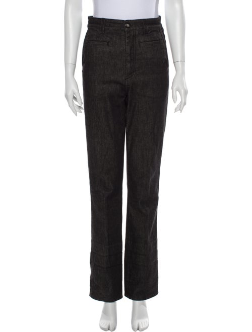 Loewe High-Rise Straight Leg Jeans Black
