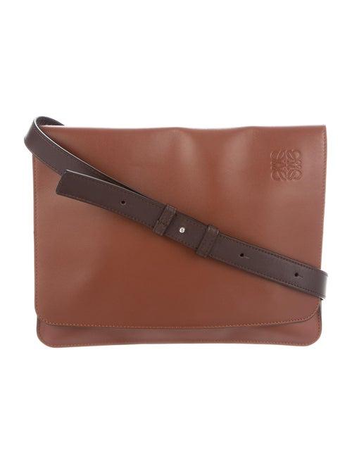 Loewe Gusset Messenger Bag Brown