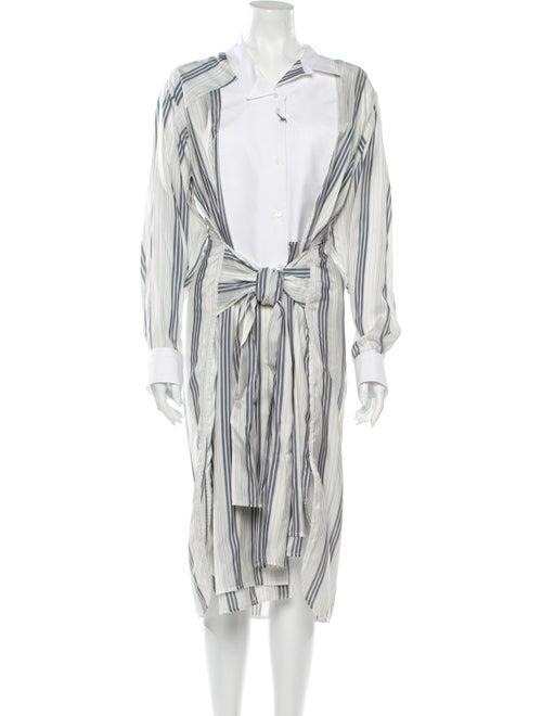 Loewe Silk Midi Length Dress White