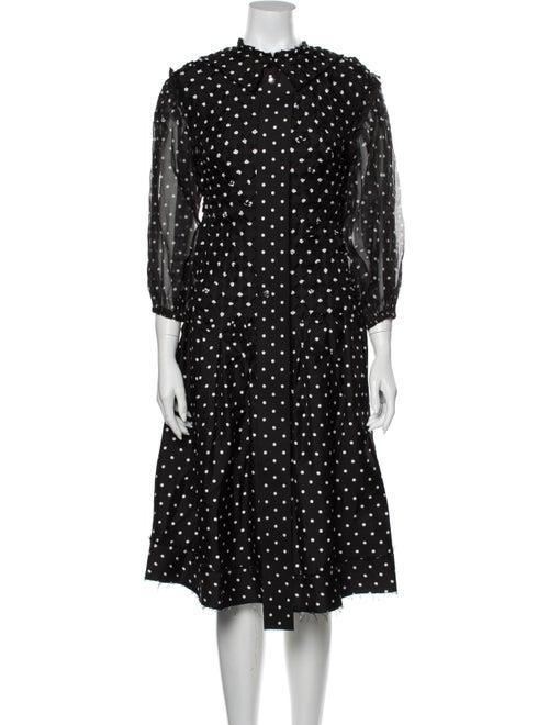 Loewe Silk Midi Length Dress Black