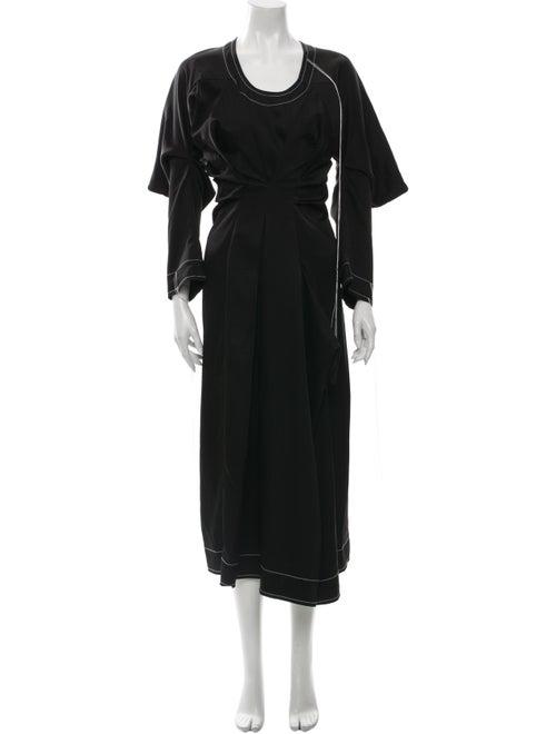 Loewe Scoop Neck Long Dress Black