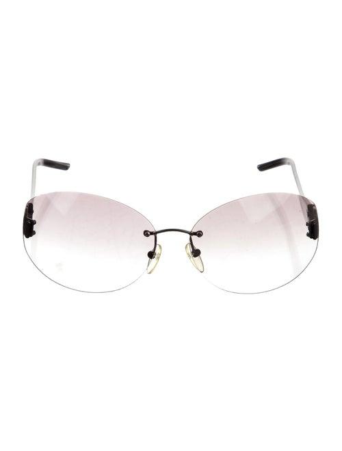 Loewe Round Rimless Sunglasses Grey