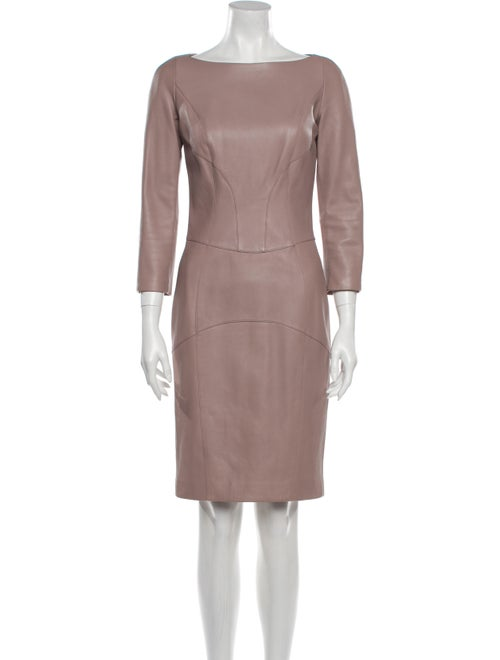 Loewe 2012 Knee-Length Dress Purple