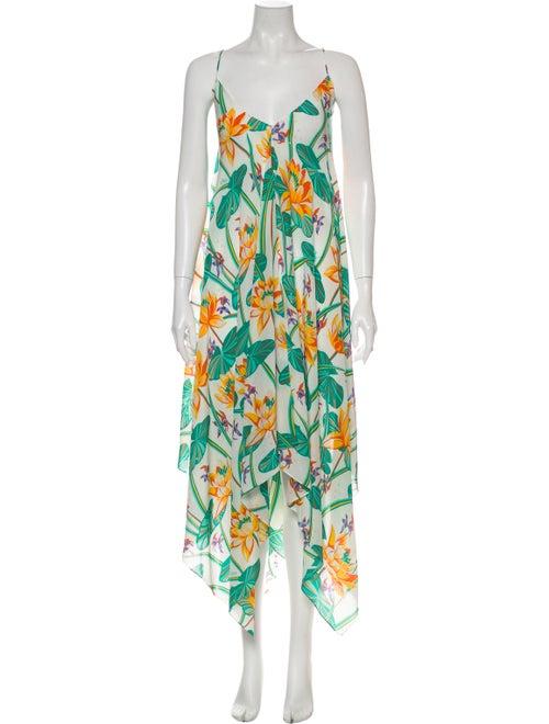 Loewe Silk Long Dress w/ Tags White