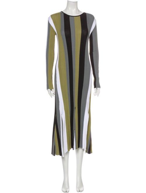 Loewe Striped Long Dress Blue