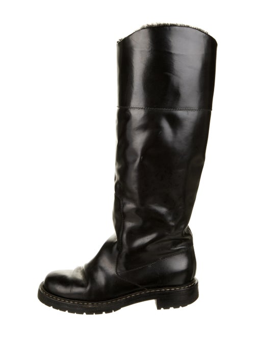 Loewe Leather Riding Boots Black
