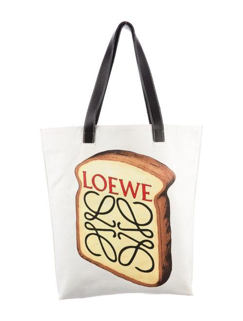 Loewe 2019 Toast Tote Bag White