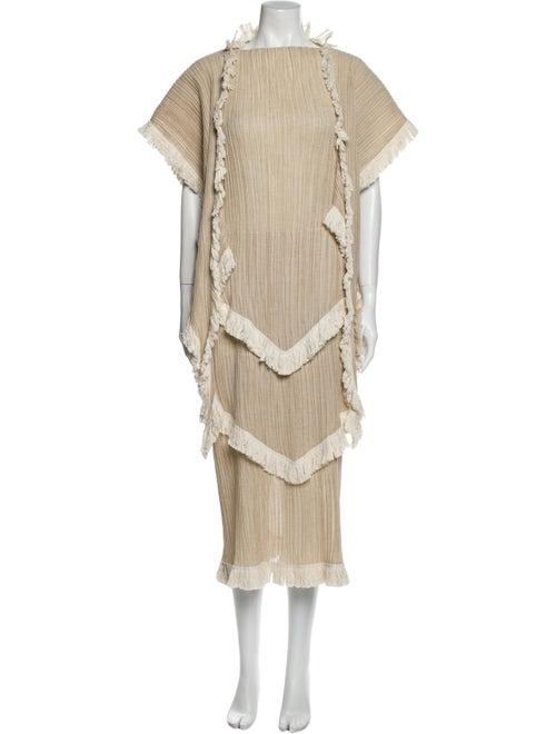 Loewe Mock Neck Long Dress