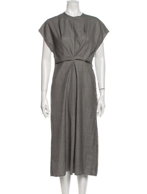 Loewe Wool Midi Length Dress Wool