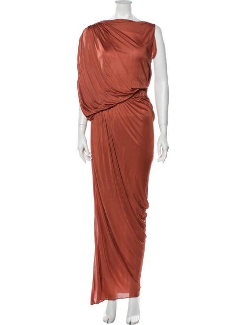 La Petite S***** Bateau Neckline Long Dress Orange