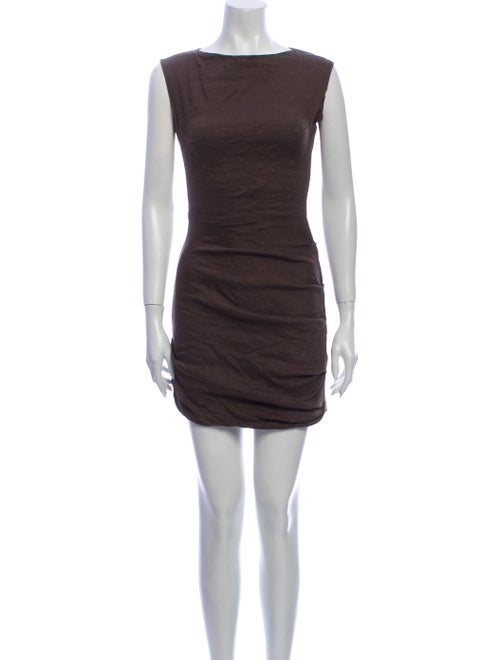 La Petite S***** Linen Mini Dress Brown - image 1