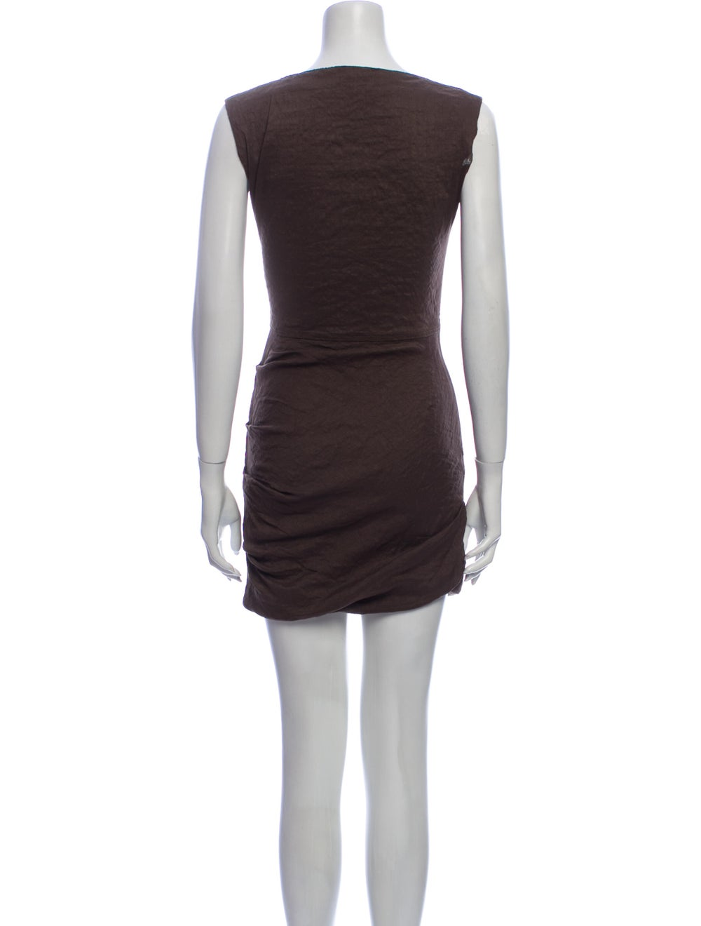 La Petite S***** Linen Mini Dress Brown - image 3
