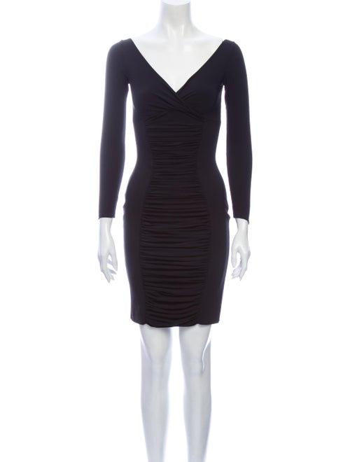 La Petite S***** V-Neck Mini Dress Black