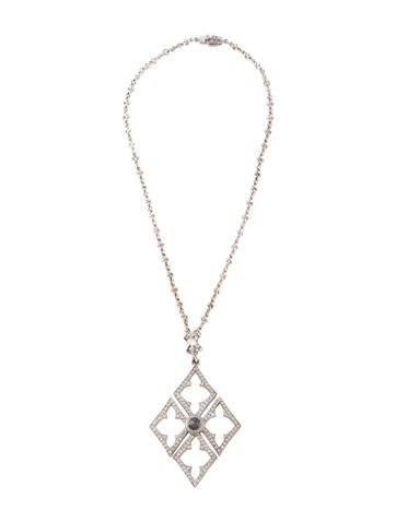 Loree Rodkin Black & White Diamond Pendant Necklace