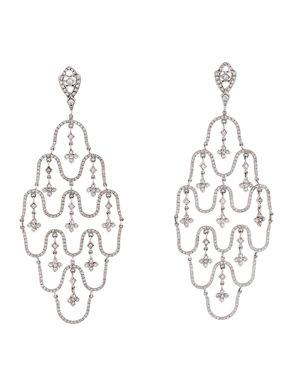 Loree rodkin 18k diamond chandelier earrings earrings lrr20228 18k diamond chandelier earrings arubaitofo Choice Image