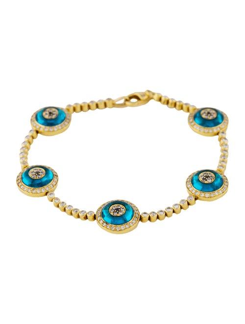 Lorraine Schwartz 18K Diamond Evil Eye Link Bracelet ...