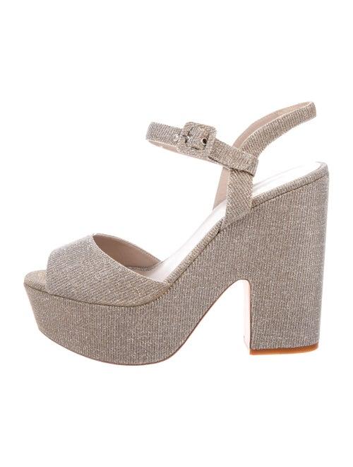 Le Silla Metallic Platform Sandals Metallic