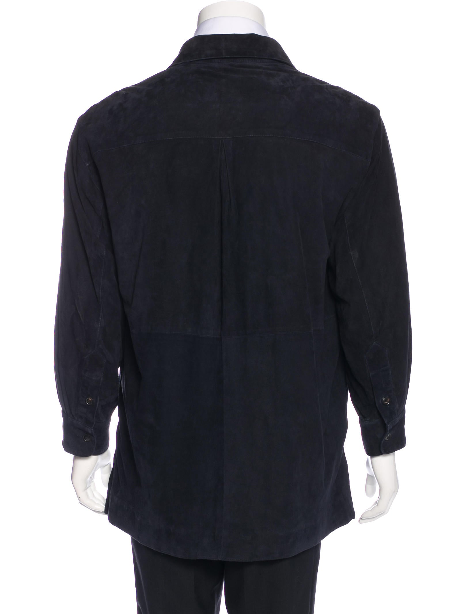 Luciano Barbera Suede Shirt Jacket Clothing Lub20483