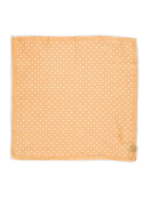 Luciano Barbera Polka Dot Pocket Square yellow