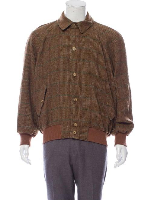 Luciano Barbera Wool Window Check Shirt Jacket woo