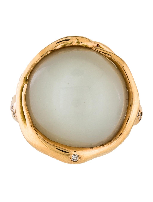 Lucifer vir honestus 18k cats eye moonstone diamond ring for Cat s eye moonstone jewelry