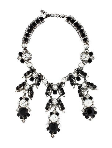 Lawrence Vrba Crystal Three-Drop Necklace