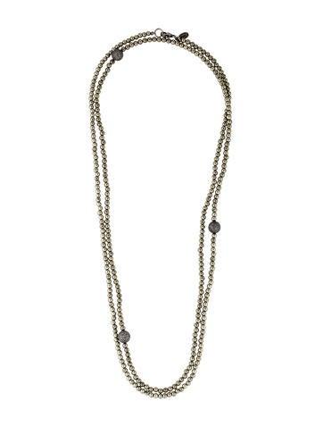 Sheryl Lowe Pavé Diamond & Pyrite Bead Strand Necklace