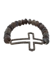 e50f00b165c Sheryl Lowe. Diamond & Moonstone Bead Bracelet