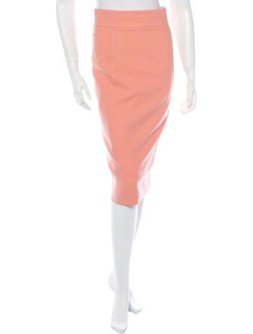 Wool Slim Skirt w/ Tags