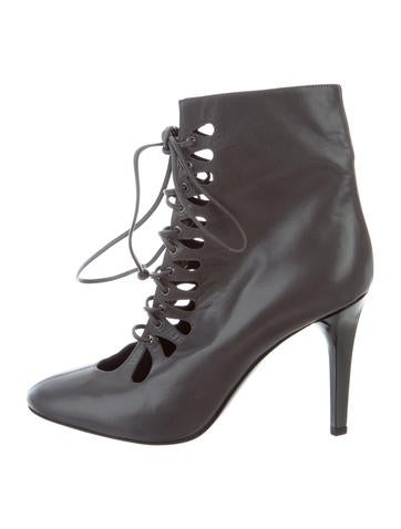 L'Wren Scott Leather Lace-Up Boots clearance best place UjVvnA00RY